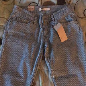 Pinstripe Skinny Levi's Jeans